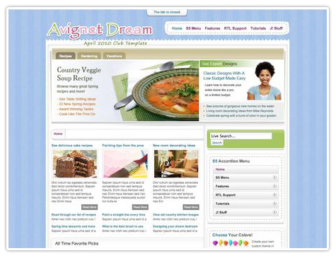 шаблон joomla S5 Avignet Dream