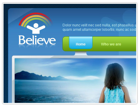 шаблон joomla BT Believe