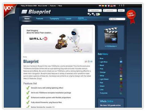 шаблон joomla YT Blueprint