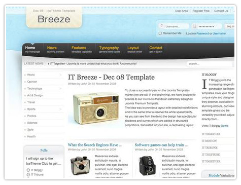 шаблон joomla IT Breeze