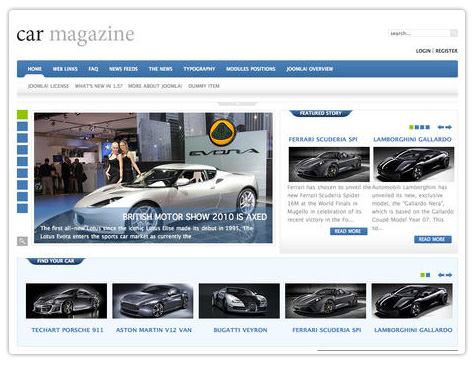шаблон joomla GK Car Magazine
