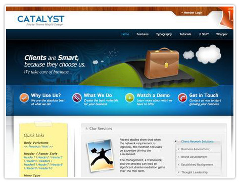 шаблон joomla RT Catalyst