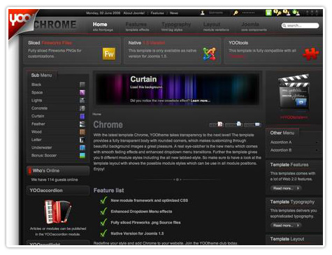 шаблон joomla YT Chrome