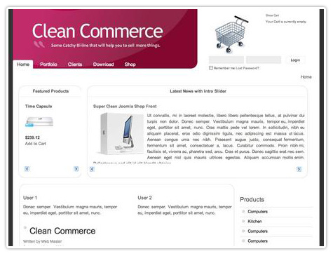 шаблон joomla JB Clean Commerce
