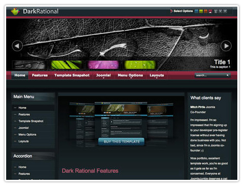 шаблон joomla JJ Dark Rational