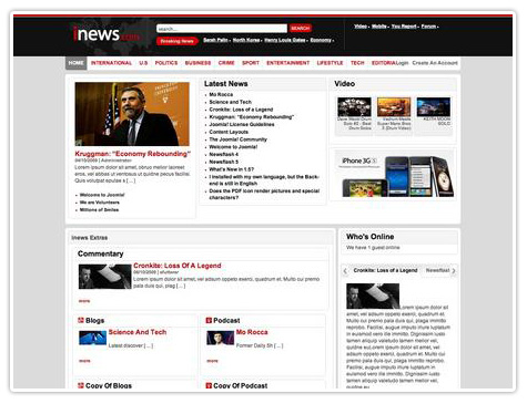 шаблон joomla iNews Theme