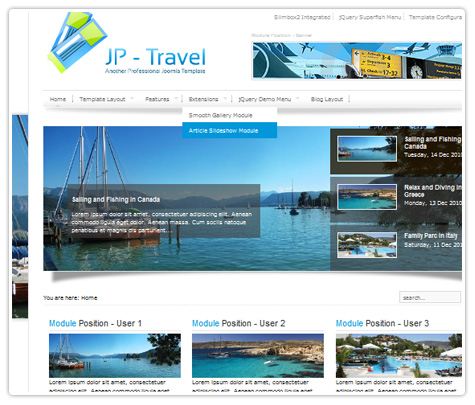 шаблоны joomla JP Travel