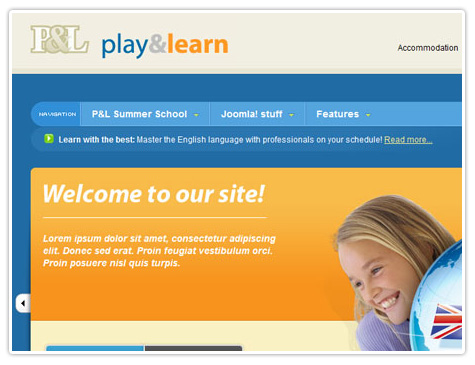 шаблон joomla BT Play & Learn