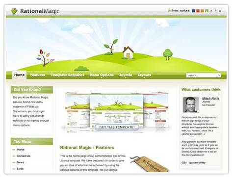 шаблон joomla JJ Rational Magic