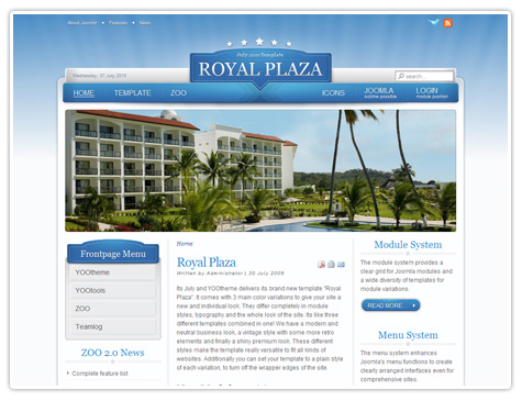 шаблон joomla YT Royal Plaza v1.5.0