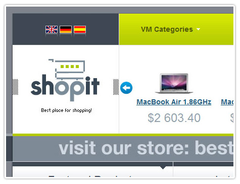 шаблон joomla BT ShopIt