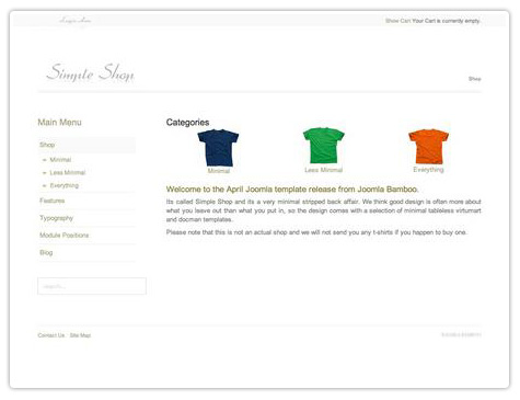 шаблон joomla JB Simple shop
