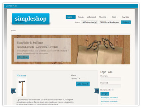 шаблон joomla JP Simple Shop v2.0.0