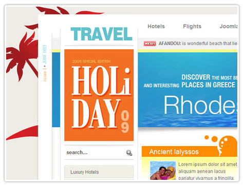 шаблон joomla BT Holiday