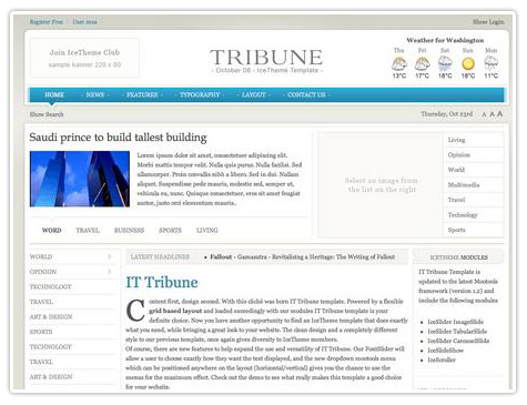 шаблон joomla IT Tribune