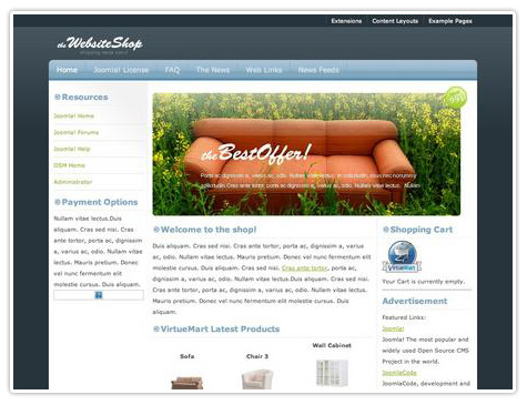 шаблон joomla MP Shopix 1.5