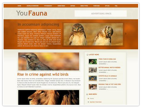 шаблон joomla YJ You Fauna
