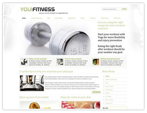 шаблон joomla YJ You!Fitness