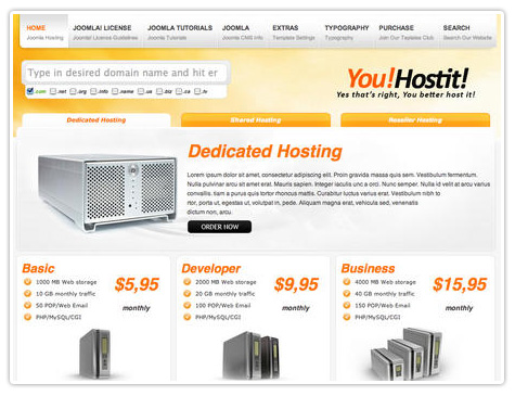 шаблон joomla YJ You Hostit