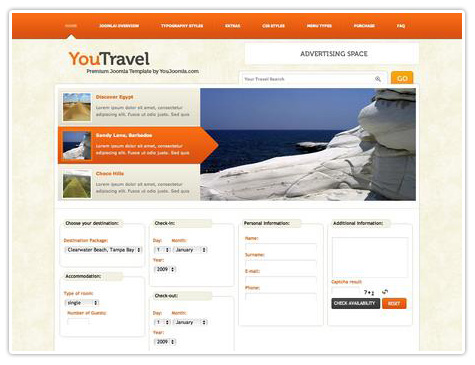 шаблон joomla YJ You Travel